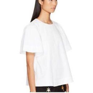 Kate Spade Flutter Sleeve Shirt